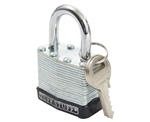"Tuff Stuff 4125 1-1/4"" Laminated Steel Padlock with Protective Bumper"