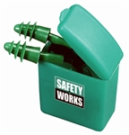 MSA Safety Works SWX00353 Rubber Ear Plugs With Cord And Case, 1 Pair