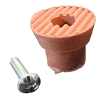 Ultra 87005 Brown 10 Pack Brown Replacement Tip for Drop Down Door Holder Stops With Screw