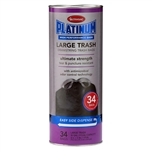 "Ultrasac Platinum 030100034 30 Gallon Large Antimicrobial Odor Control Black Drawstring Trash Bags 34 Bags Per Tube 1.0 MIL 30""X32"""