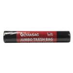 "Ultrasac 45105B05 Black Jumbo 45 Gallon Garbage Trash Bags 5 Bags Per Roll 1.05 MIL 40""X46"""