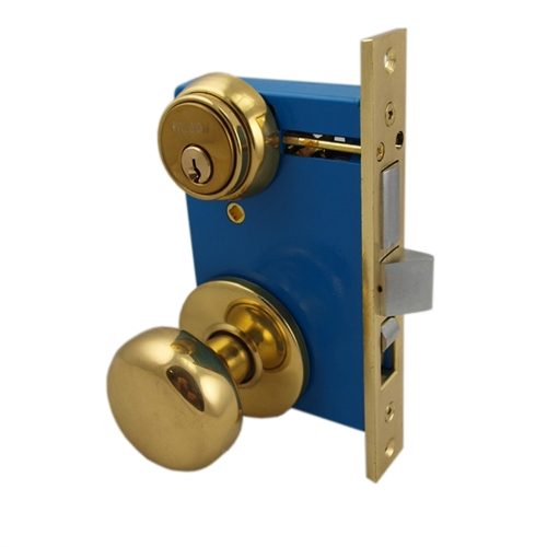 ... Polished Brass US3 Left Hand Ornamental Knob Rose Mortise Entry Lockset Iron Gate Door Double Cylinder Lock Set 2-1/2\  Backset 1\  X 7-1/8\  Faceplate  sc 1 th 225 : door faceplate - pezcame.com