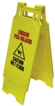 HBC, WF124Y, Yellow, Heavy Pattern Wet Floor Caution Sign, English / Spanish