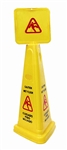 HBC, WFCONE, Yellow, Wet Floor Caution Cone, English / Spanish