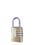 "Wilson 1122 1-1/8"" Solid Brass Body Combination Padlock 4 Numbers"