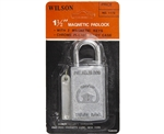 "Wilson 1172, 1-1/2"" Magnetic Padlock With 2 Magnetic Keys"