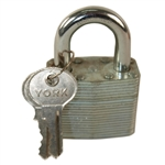 York 1-3/4 Inch Warded Brass Cylinder Padlock With Standard Shackle