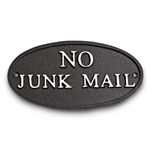 Garden & Outdoor Living Decor - No Junk Mail Sign