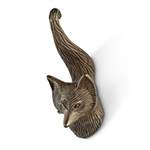 Fox Tail Wall Hook - Brass