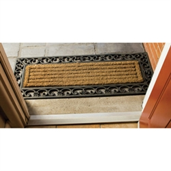 Long Fleur De Lys Double Doormat - Home Décor & Accessories