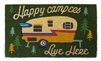 Happy Campers Live Here Door Mat