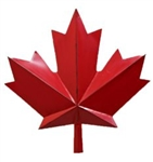 Metal Red Maple Leaf 15""