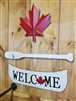 Garden & Outdoor Living Decor - Canada Welcome Canoe Sign