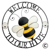 Garden & Outdoor Living Decor - Welcome To Our Hive Wall Art