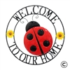 Garden & Outdoor Living Decor - Ladybug Wall Art Sign