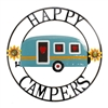 Garden & Outdoor Living Decor - Happy Campers Wall Art Sign