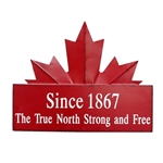 Garden & Outdoor Living Decor - True North Maple Leaf Sign