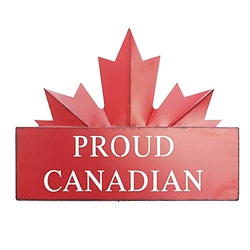 Garden & Outdoor Living Decor - Proud Canadian Maple Leaf Sign