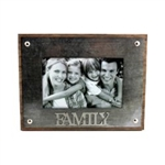"Metal Photo Frame - ""Family"""