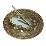 Garden & Outdoor Living Decor - Sundial - Moon & Stars