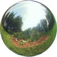 Garden & Outdoor Living Decor - Stainless Steel Gazing Ball - 8 inch