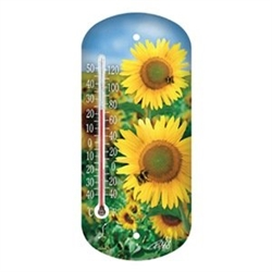 "Outdoor Weather Guage - Sunflowers 8"" Thermometer"