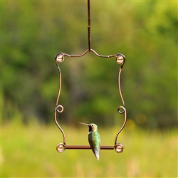 Copper Beaded Hummingbird Swing