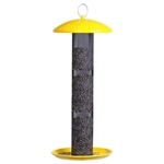 Yellow Straight-Side Finch Tube Feeder
