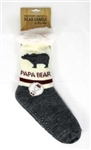 Papa Bear Socks with ABS sole