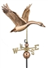 Canada Goose Polished Weathervane - Copper Ornamental Wind Instrument