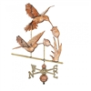 Garden & Outdoor Living Supplies - Double Hummingbird Polished Weathervane