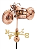 Motorcycle Weathervane - Polished Copper