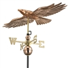 Redtail Hawk Weathervane - Polished Copper