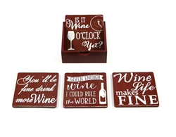 Wine Coasters - Set of 4