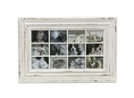 White Distressed Picture Frame- 12 Pictures