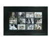 Distressed White/Black Picture Frame - 12 Pictures