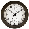 "10"" Indoor/Outdoor Wall Clock - Brown"