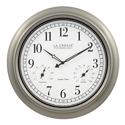 Indoor/Outdoor Atomic Wall Clock - 18""
