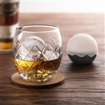 On the Rocks Set - Etched Glass & Ice Ball