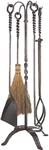 Wrought Iron Fireplace Tool Kit