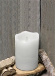 White Real Wax Flameless LED Candle - 3X5""