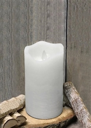 White Real Wax Flameless LED Candle - 3X6""