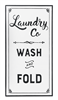 "Metal Wall Decor - ""Laundry Co, Wash and Fold"""