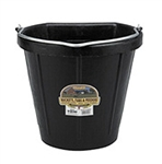 Poultry Farm Equipment - Bucket - 18 quart flat back rubber bucket