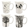 Eternal Silhouette Mug Set of 4 - Kitchen & Entertaining Supplies