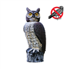 Outdoor Pest & Animal Control - Owl- Solar Rotating Head Owl
