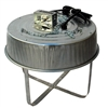 Poultry Farm Equipment - 4 Lamp Poultry Brooder
