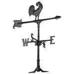 "Rooster Weathervane - 30"" Aluminum Ornamental Wind Instrument"