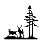 Deer & Pines Weathervane - Outdoor Ornamental Weather Vane