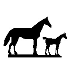 Mare & Colt Weathervane - Outdoor Ornamental Weather Vane